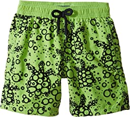 Vilebrequin Kids Flocked Bubble Turtle Swim Trunk (Big Kids)