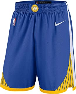 Nike Golden State Warriors NBA Youth 8-20 Blue Dri-Fit Performance Icon Edition Swingman Shorts