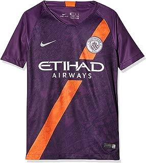 Nike 2018-2019 Man City Third Football Soccer T-Shirt Jersey (Kids)
