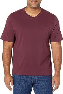 Amazon Essentials Men's 2-Pack Loose-fit V-Neck Pocket T-Shirt, Pack of 2