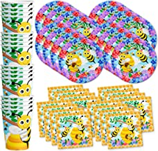 Bumble Bee Birthday Party Supplies Set Plates Napkins Cups Tableware Kit for 16