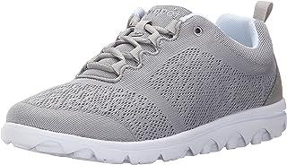 Propet Women's TravelActiv Sneaker, Silver, 10 Narrow
