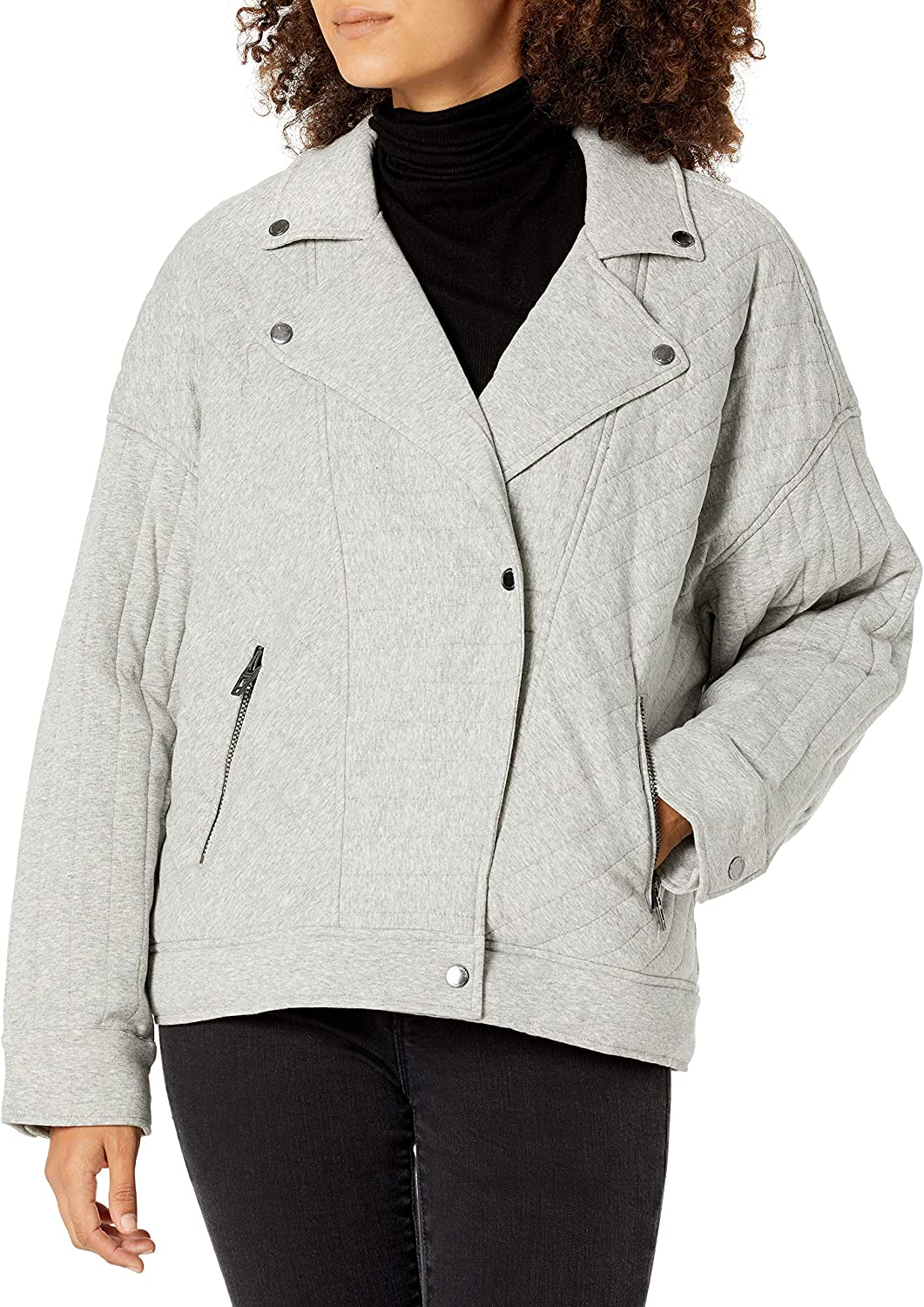 [BLANKNYC] womens Women's Knit Quilted Moto Jacket