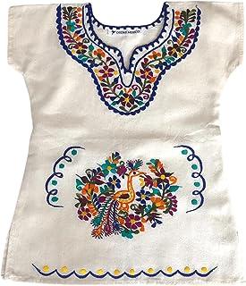 Vestito per bambina 1 anno - Vestito di cotone per le ragazze - Vestito estivo per ragazza - vestito di fiori ricamati - v...