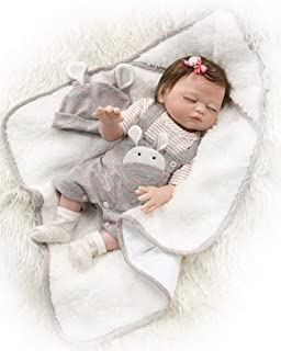 Zero Pam Reborn Baby Dolls Bath 20 inch Realistic Reborn Newborn Baby Sleeping Girl Dolls Full Body Silicone Vinyl Toys with Pacifier