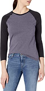 Soffe Women's Heathered Baseball Tee