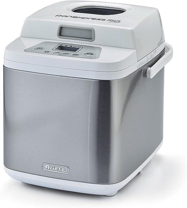 Ariete panexpress 750 macchina del pane fatto in casa, 19 programmi, capacità 500 g, acciaio inox, bianco 00C013200AR0