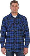 Gioberti Men's Western Brushed Flannel Plaid Checkered Shirt w/Snap-on Button