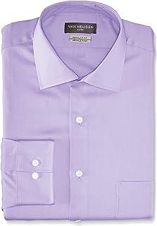 Van Heusen Men's Flex Collar Regular Fit Solid Spread...