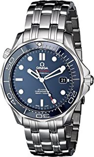 Men's O21230412003001 Seamaster Analog Display Automatic Self-Wind silver-Tone Watch