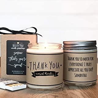 Thank You Most Kindly Candle Gift, Soy Candle Gift, Personalized Candle Gift, Thank You Gift, Thank You Candle, Teacher Appreciation Gift