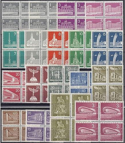 Goldhahn Berlin Stadtbilder postfrisch  Viererblocksatz komplett 18 Werte Briefmarken für Sammler