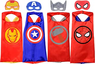 Rubie's Marvel Super Hero Cape Set, Officially Licensed 4 Capes and 4 Masks Assortment (Amazon...