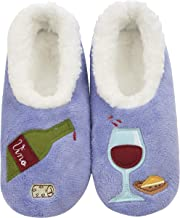 Snoozies Womens Classic Splitz Applique Slipper Socks   Womens Slipper Socks   Womens House Slipper Socks   Cozy Slippers for Women   Multiple Styles and Sizes