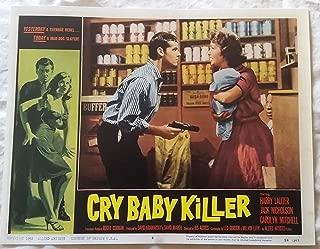 Cry Baby Killer Lobby Card 14 x 11 inches Jack Nicholson, Carolyn Mitchell