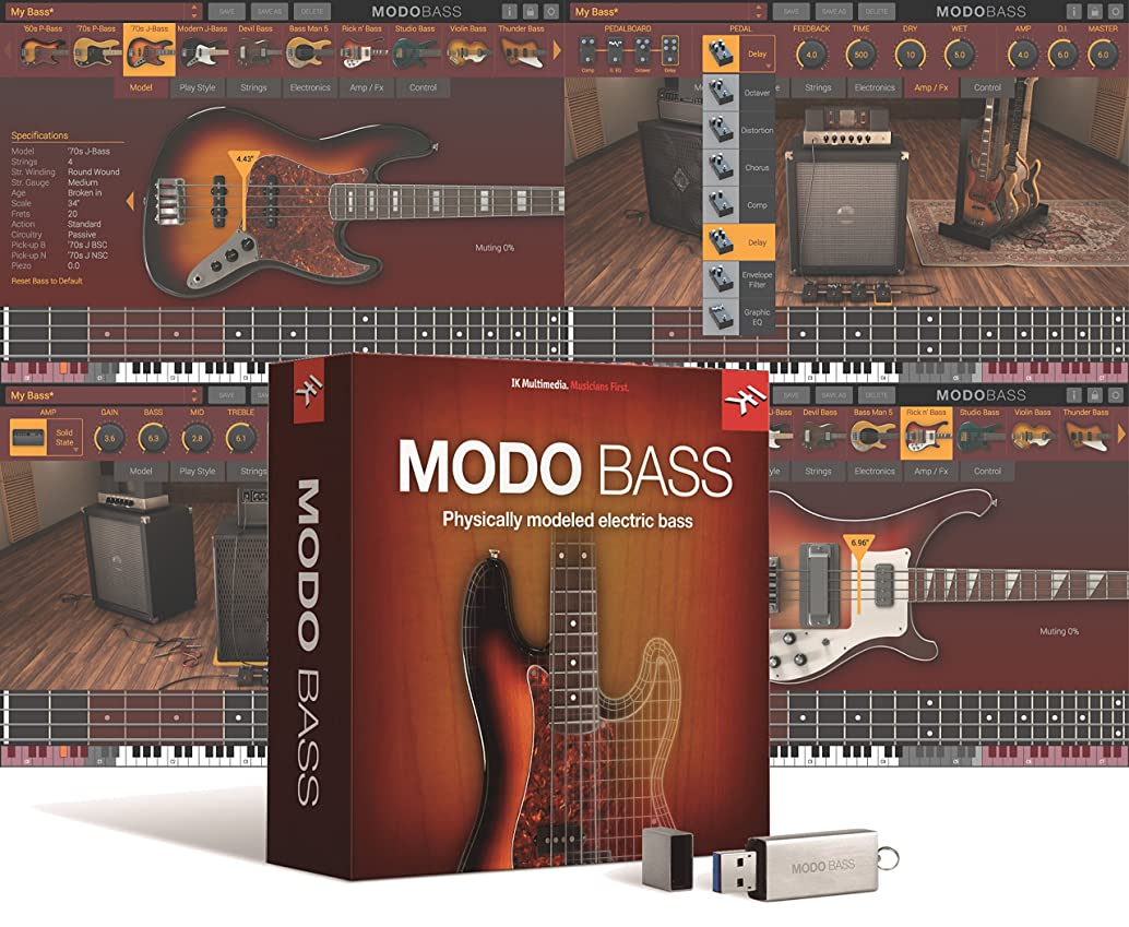 ほんのパラダイスダムIK Multimedia MODO BASS 初回限定版 フィジカル?モデリング?エレクトリック?ベース音源【国内正規品】