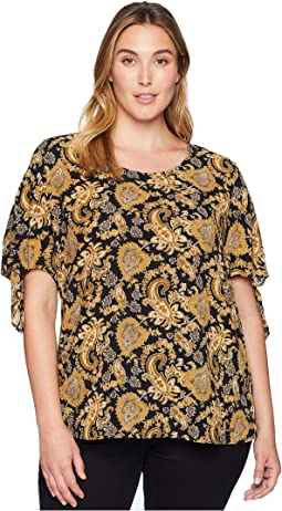 Plus Size Sweatheart Paisley Top