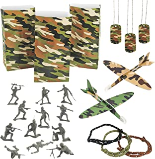 Camouflage Army Toy Party Favor Assortment - 72 Pieces