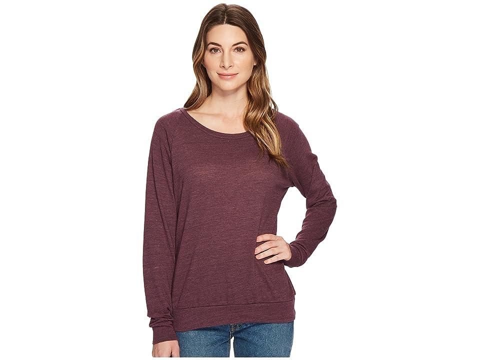 Alternative Eco-Heather Slouchy Pullover (Plum Overdye) Women