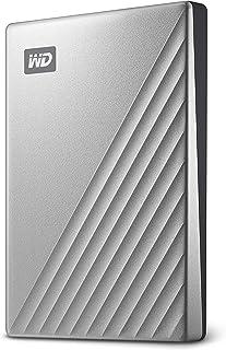 WD 2 TB My Passport Ultra disco duro portátil con protección con contraseña y software de copia de seguridad automática, Compatible con PC, Xbox y PS4, color Plata