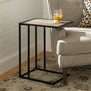 WE Furniture Modern Side End Accent C Table Living Room, 20 Inch, Grey