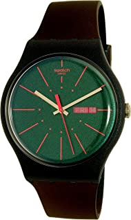 Swatch Women's New Gentleman SUON708 Multicolor Rubber Swiss Quartz Watch