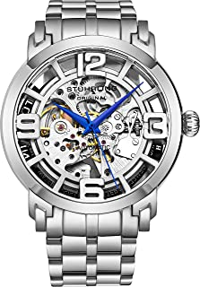 Skeleton Watches for Men - Mens Automatic Watch Self Winding Mens Dress Watch - Mens Winchester 44 Elite Watch Mechanical Watch for Men