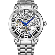 Stuhrling Original Skeleton Watches for Men - Mens Automatic Watch Self Winding Mens Dress Watch...