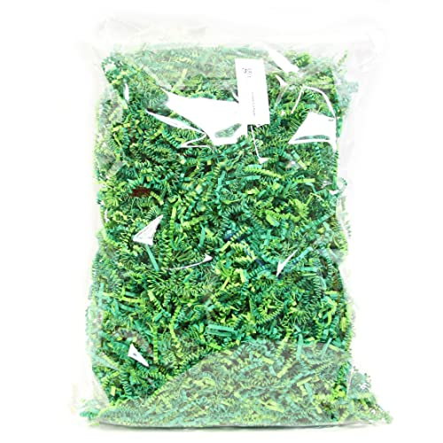 10 OZ Green Crinkle Paper Shred Filler for Gift Wrapping, 100% Recyclable Easter Egg