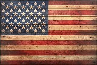"Empire Art Direct American Flag Digital Print on Solid Wood Wall Art, 30"" x 45"".."