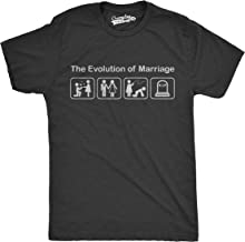 Crazy Dog T-Shirts Mens Evolution of Marriage Funny Wedding Newlywed Anniversary T Shirt