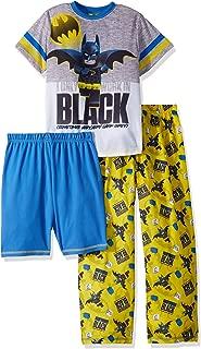 LEGO Boys' Big Batman Movie 3-Piece Pajama Set-tee-Shorts-Pants