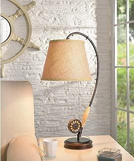 Fishing Rod Table Lamp Brown Rustic Bronze
