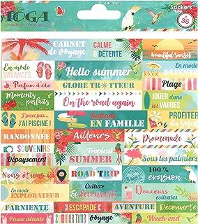 Toga Tropical Paradise Planches de Stickers, Autre, Multicolore, 15 x 0.1 cm