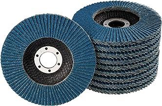 10 stuks lamellenschijven – Ø 125 mm – korrel 40 – blauw/inox lamellenschijven/slijpslijpschijf