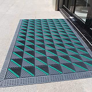 Large Doormats for Outdoor Entrance Winter, Non Slip Washable Heavy Duty Welcome Door Mats for Entry Office Garage Porch P...