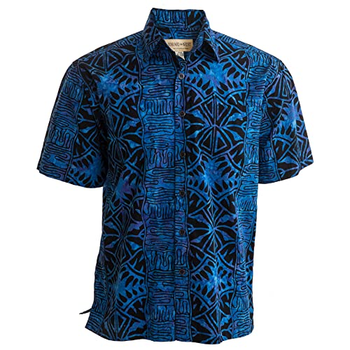 2011cacd8 Johari West Geometric Forest Tropical Hawaiian Batik Shirt
