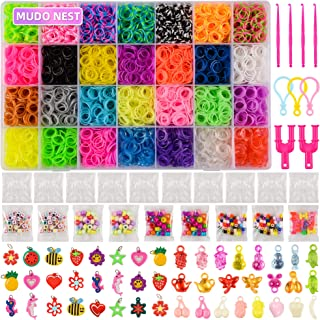 11,860+ Rubber Bands Refill Loom Set: 11,000 DIY Loom Bands 500 Clips, 210 Beads, 46 Charms, Loom Bracelet Making Kit for ...