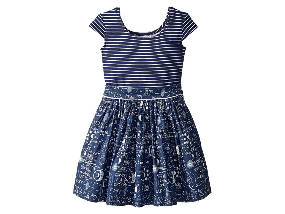 fiveloaves twofish Maddy Mathematician Dress (Toddler/Little Kids) (Navy) Girl