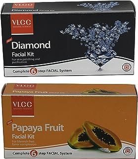 VLCC Diamond Facial Kit & Papaya Fruit Facial Kit Combo