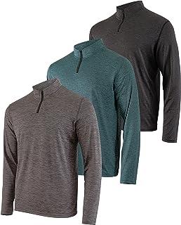 3 بسته: پیراهن کش ورزش آستین بلند زنانه خشک خشک و متناسب آستین بلند