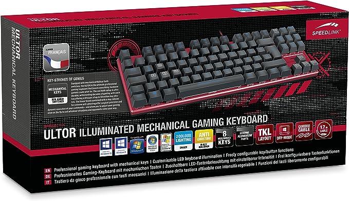 Speedlink RAPAX Gaming Keyboard, Black - FR Layout