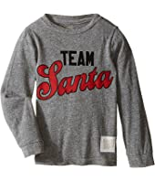 The Original Retro Brand Kids - Team Santa Long Sleeve Tri-Blend Tee (Toddler)
