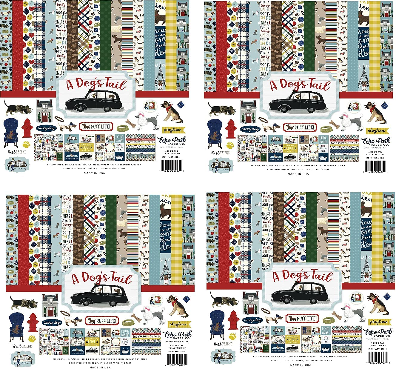 Echo Park Paper Company A Max 90% OFF Dog's 12-x-12 Tail Collection Special Campaign