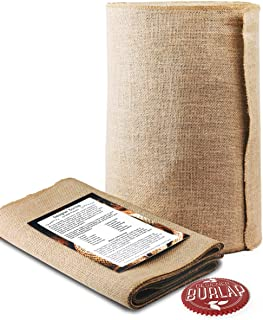 Burlap Table Runner - 14 Inch Wide x 50 Yards Long. No-Fray with Finished Edges. Burlap Fabric Roll Perfect for Weddings, Table-Runners, Decorations and Crafts. Decorate Without Mess