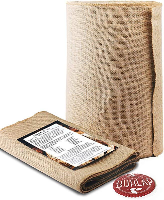 Burlap Table Runner 14 Inch Wide X 50 Yards Long No Fray With Finished Edges Burlap Fabric Roll Perfect For Weddings Table Runners Decorations And Crafts Decorate Without Mess