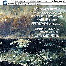 Brahms: Alt-Rhapsodie/ Wagner: Wesendonck-Lieder / Mahler: 5 Lieder
