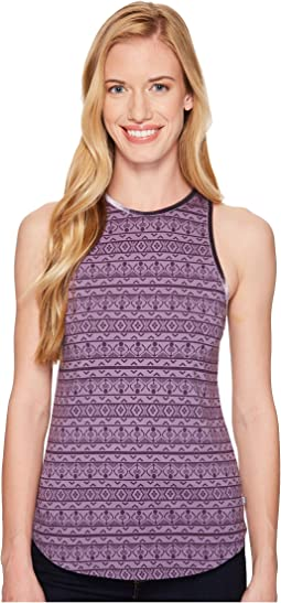 Purple Thistle Knit Print