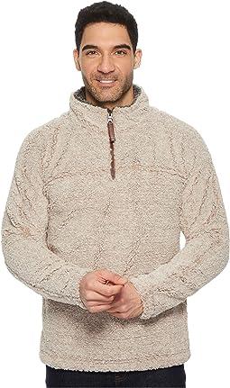 Luxe Melange Shearling 1/4 Zip Pullover
