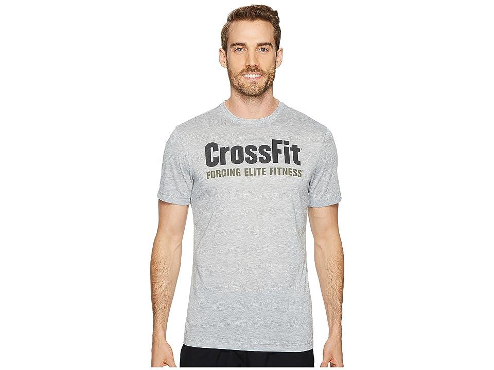 Reebok Crossfit Forging Elite Fitness Tee (Medium Grey Heather/Coal) Men